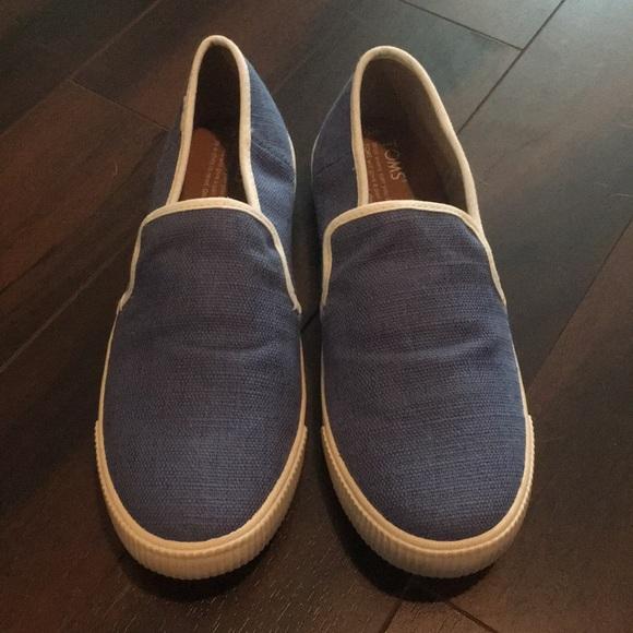Toms Womens Infinity Blue Clemente Slip